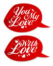 Valentine stickers. Royalty Free Stock Photography
