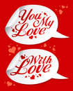 Valentine stickers. Stock Photography