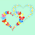Valentine symbolic hearts Royalty Free Stock Photos