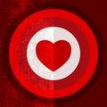 Valentine target half Imagens de Stock