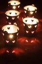 Valentine tea lght candle holders