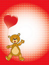 Valentine teddy bear Royalty Free Stock Image