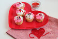 Valentine treats colorful and tasty Stock Image