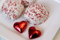 Valentine treats colorful and tasty Royalty Free Stock Photography