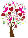 Valentine tree Stock Photography