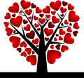 Valentine tree with love heart vector illustration eps day concept Royalty Free Stock Photo