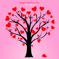 Valentine tree with love heart vector illustration eps day concept Royalty Free Stock Photography