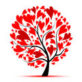 Valentine tree, love, leaf from hearts Royalty Free Stock Photo