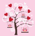 Valentine Tree Royalty Free Stock Photo