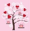 Valentine Tree Royalty Free Stock Photo