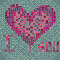 Valentine valentines composition of the heart vector illustration Royalty Free Stock Photo