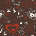 Valentine wallpaper seamless love romantic lovely texture with hearts Royalty Free Stock Image