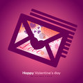 Valentine and wedding envelope with collage illustration graphic Stock Photo
