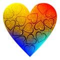 Valentines Background Heart glitter Valentine day love. Royalty Free Stock Photo