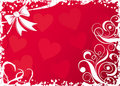Valentines background with hearts, vector Stock Image