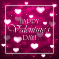 Valentines background with pink hearts Royalty Free Stock Photo