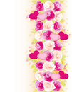 Valentines background with roses and hearts Royalty Free Stock Image