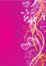Valentines background, vector Stock Image