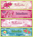 Valentines banners Royalty Free Stock Images