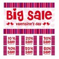 Valentines big sale Stock Image