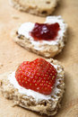 Valentines Bread Snacks Stock Photography