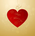 Valentines card background with design hearts and text Royalty Free Stock Image