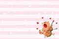 Valentines card with a Cute Tabby Cat illustration