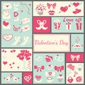 Valentines card elements for your design vector illustration Royalty Free Stock Images