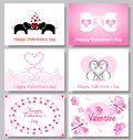 Valentines cards set of vector Stock Photos