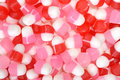 Valentines chewy candy macro of Royalty Free Stock Photography