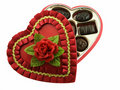 Valentines chocolates box Royalty Free Stock Image