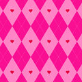 Valentines day argyle pattern Stock Photos