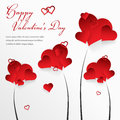 Valentines day background with abstract hearts and place for your text vector illustration Stock Photos