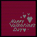 Valentines day background heart happy dy Royalty Free Stock Image