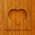 Valentines day background heart and text on wooden Stock Photo