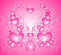Valentines day background with heart, vector Stock Photography
