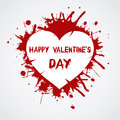 Valentines day background with heart vector illustration Royalty Free Stock Photography