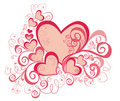 Valentines Day background with Hearts. Vector Royalty Free Stock Photos