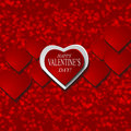 Valentines day background with hearts vector illustration Royalty Free Stock Image