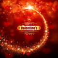 Valentines day background magic star with hearts card Stock Photography