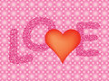 Valentines day background pink with word love Royalty Free Stock Images