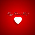 Valentines day background red with white heart vector illustration Stock Photo