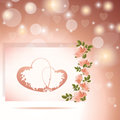 Valentines Day Background with roses Royalty Free Stock Photos
