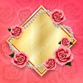 Valentines day background with roses and pearls. Wallpaper.flyer