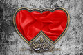 Valentines Day Background, Valentine Heart Red Silk Fabric Royalty Free Stock Photo