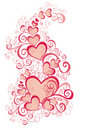 Valentines Day background, vector illustration Royalty Free Stock Photography
