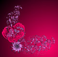 Valentines day background, vector illustration  Royalty Free Stock Images