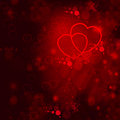 Valentines day background vibrant red with hearts Royalty Free Stock Photography