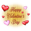 Valentines Day background on wooden texture
