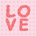 Valentines day background with word love Royalty Free Stock Photos